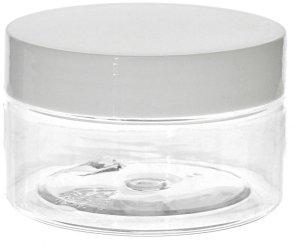 Barattolo CHICAGO in PET - 100ml Trasparente- Cosmetico e Alimentare