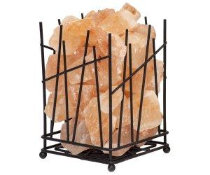 Lampada di Sale Rosa con Braciere in Metallo -  Quadrato