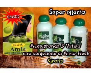 tre confezioni di vatika 150 ml - omaggio un amla