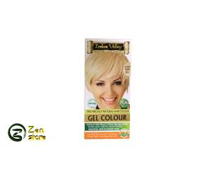 Indus Valley - Gel Colorante Biondo Brillante - Lightest Blonde - Colore 9.0 - Kit Colorante Naturale Per Capelli