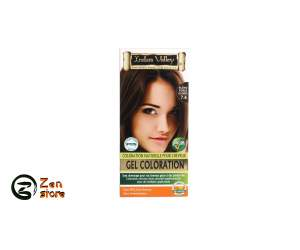 Indus Valley - Gel Colorante Biondo Scuro Ramato - Dark Copper Blonde - Colore 7.4 - Kit Colorante Naturale Per Capelli